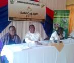 from left to right; Mrs Kanoerera Min of Primary and Secondary Education Deputy PED Primary, CEO ZNYG LOC Cosmas Chiringa, Sports and Recreation Commission Coordinator Shupikai Berejena and Elizabeth Muusha.