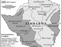Zimbabwe-Regions map