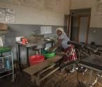 Malawi nurse cleans up