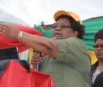 Dr Joice Mujuru addressing her rally